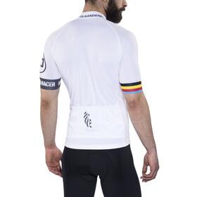 Bioracer Van Vlaanderen Pro Race Kortermede Sykkeltrøyer Herre Hvit